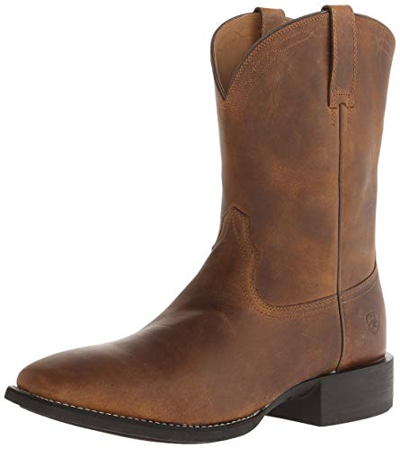(Ariat Men's Heritage Roper Western Cowboy Boot, Powder Brown, 11 M US)