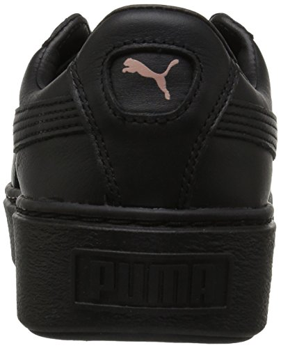 PUMA Womens Basket Platform Metallic, Black Rose Gold, 9.5 M US