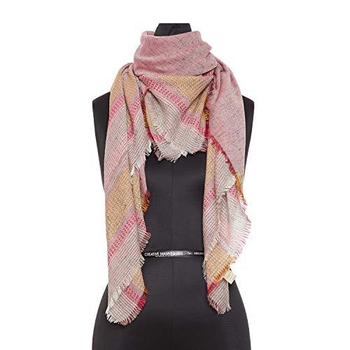 Woman's Cotton Rich Scarf | Yarn Dyed Stripe