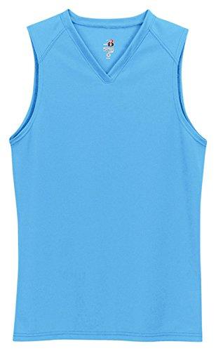 - Badger Sportswear Women's B-Dry Sleeveless Performance Tee, Columbia Blue, Small