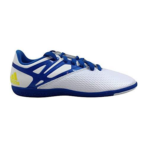 adidas Performance Messi 15.3 Indoor Soccer Shoe (Little Kid/Big Kid)-White/Prime Blue/Black (5.5Y) (Indoor Soccer Shoes Messi Kids)