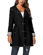 ZXCVBNM Waterdichte regenjas voor dames, sport, winddicht, zonwerend jack met capuchon, sportkleding, regenpak, jas, jas voor lente, zomer en herfst