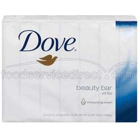 Dove White Beauty Bar Soap 2 Per Pack 48 Packs Per Case