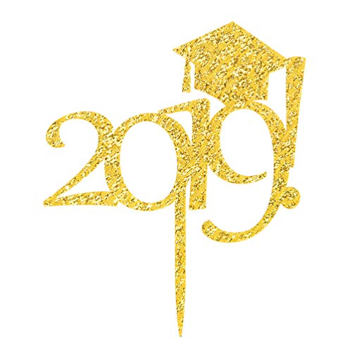 2019 with Graduation Hat Cake Topper - 2019