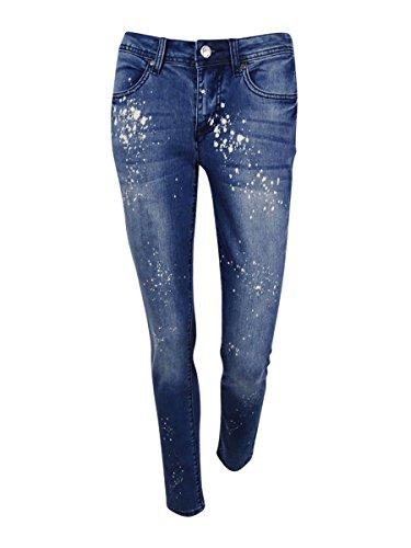 - Earl Jean Womens Bleach Splatter Zipper Fly Skinny Jeans 2