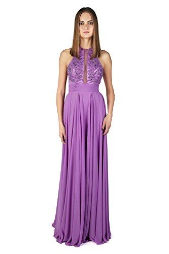 mit Dynasty Lavender Spirit Schal 1022812 Elfenbeinfarben lange Jaya Kleid Damen Stil qYrvq