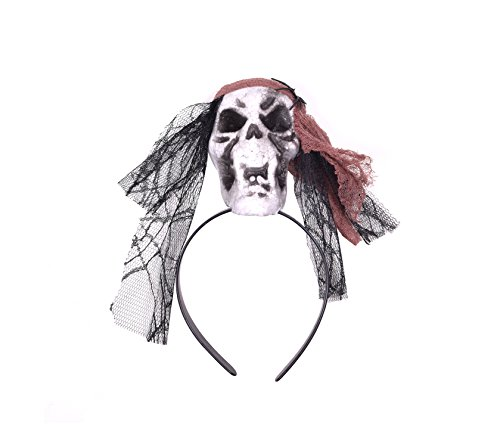 Costume Indian Ideas Red (Skull Hair Hoops Halloween Costume Headbands Halloween Hair)
