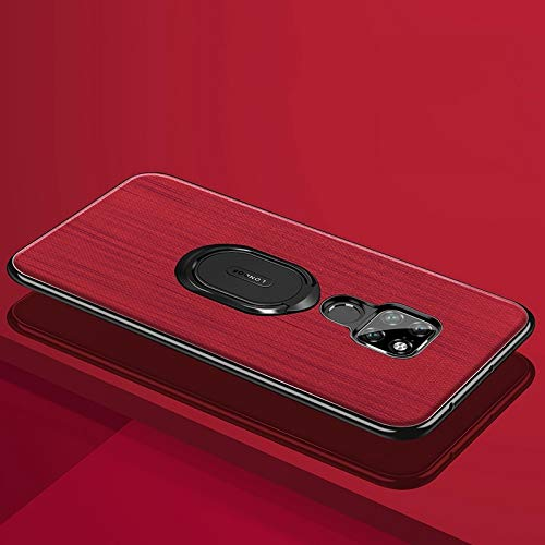 ZITEZHAI-Fashion case with Alloy Holder, Shockproof PC + TPU Case for Huawei Mate 20 (Color : Red)]()