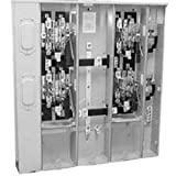Milbank U4373-XT-5T9 Ringless 3 Position Condominium Metering Bank With Lever Bypass 120/240 Volt AC 200 Amp 480 Amp Bus Rating G90 Galvanized Steel 1 Phase Surface Mount