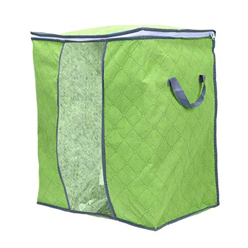 EGALIVE Clothing Bag Bamboo Charcoal Clothes Bedding Duvet Zipped Pillows Non Woven Storage Bag Dust Proof Quilt Organizer