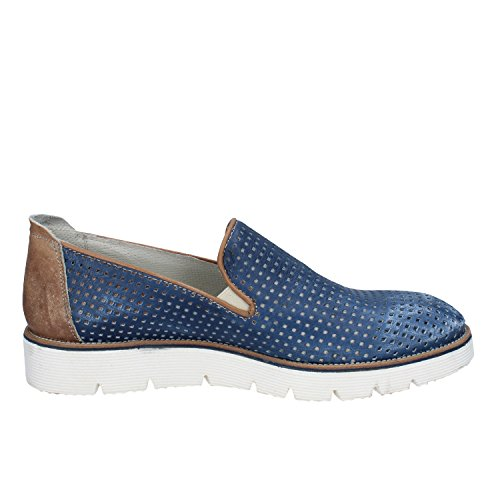 +2 MADE IN ITALY Mocassini / Slip on Uomo Blu Pelle
