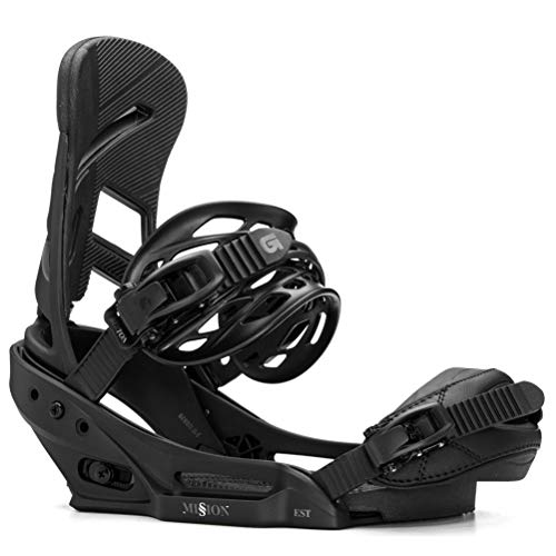 Burton Freestyle Snowboard Binding - Burton Mission EST Snowboard Bindings - Small/Blackish