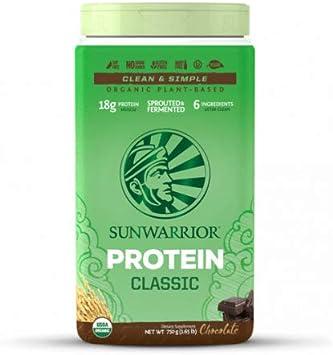 Sunwarrior Classic - Proteína de arroz vegano sabor chocolate