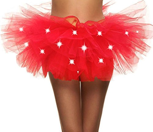 Simplicity Womens Tutu Skirt with Led Light up Layered Tulle Costume Party Dance]()