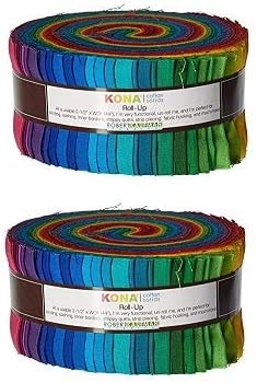 2-1//2in Strips Roll Up Kona Cotton Solids Classic Palette 41Pcs