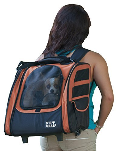 Pet Gear I-GO2 Traveler Roller Backpack for cats and dogs, Copper by Pet Gear ()