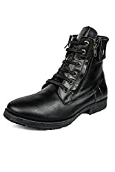 Liberty Mens Leather Boots (7, Black)