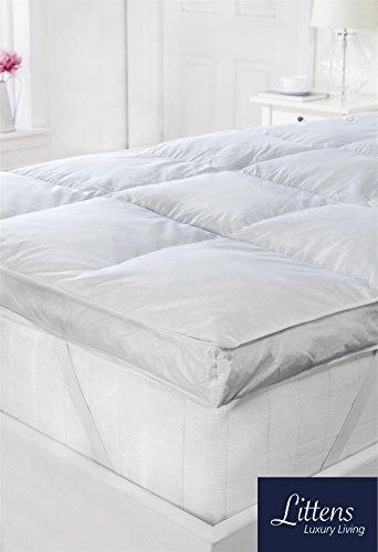 Littens - 3' EXTRA DEEP Hotel Quality White Goose Feather & Down Mattress...