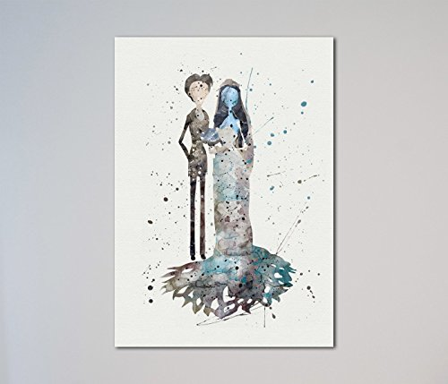 Corpse Bride Emily and Victor Print (The Corpse Bride Emily)