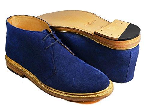 Leren Boots Van Marineblauw Van Paul Malone. Echt Leer Marine