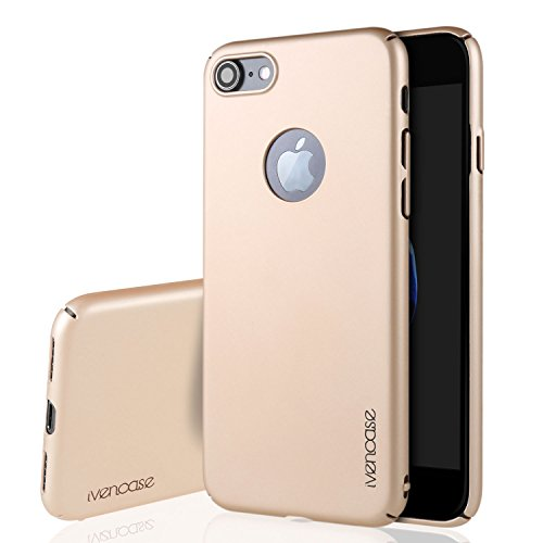 """Für iPhone 7 Hülle , ivencase Prämie Hoch Qualität Ultra Slim Scrub PC [Vollrand Schutz] Hart Schutzhülle für iphone 7 4.7"""" Gold"""