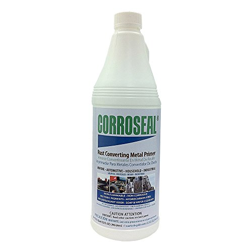 (Corroseal Water-Based Rust Converter Metal Primer, Quart, 82320)