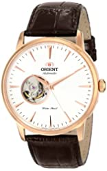 """Orient Men's FDB08001W0 """"Esteem"""" Stainless Steel Automatic Watch with Leather Band"""