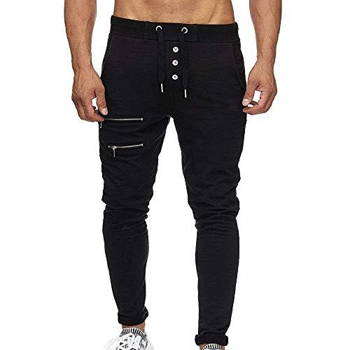 Allenamento Skinny Nero Attillati Bolawoo Pantaloni Mode Uomo Marca Con Chino Sportivi Coulisse Da Comodi Di X6wvq4Tw