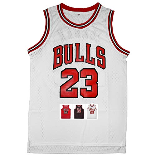Antsport 23 Basketball Jersey,Legend Mens Retro Athletics Jersey S-XXXL (White, M) ()