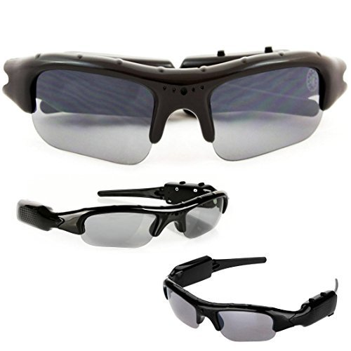 SpyCrushers Spy Video Glasses & Camera Glasses, Best Wireless Hidden Camera and Recording Sunglasses Available, Features Video Recorder, Photo & PC Webcam, Satisfaction Guarantee