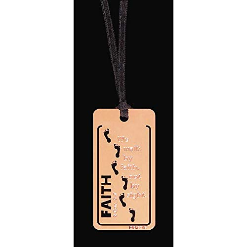 (Faith Footprints Cut-Out Shiny Gold-Plated Metal Bookmarks, Pack of 12 )