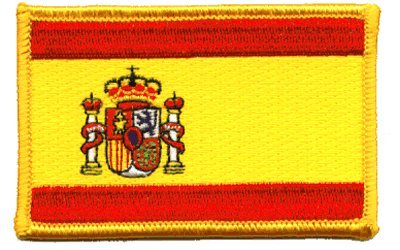 Spain iron-on embroidered patch