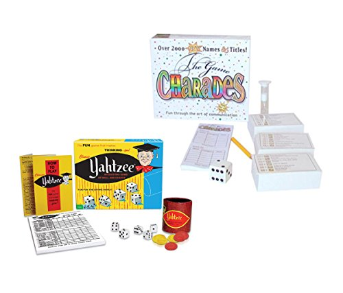 Mozlly Value Pack - Classic Yahtzee AND Charades The Game - Family Game Boards (2 items) - Item #K119025-119041 by Mozlly