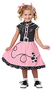 1950s Costumes- Poodle Skirts, Grease, Monroe, Pin Up, I Love Lucy California Costumes 50s Poodle Cutie Toddler Costume 3-4 $21.36 AT vintagedancer.com
