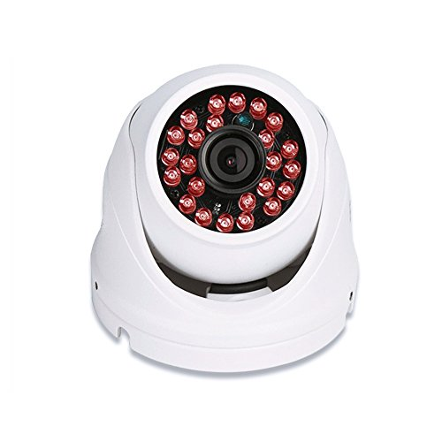 Crenova ONVIF 1280*720P HD 1.0MP Mini Dome IP Cam with Wired IR Night Vision Camera Pan/Tilt Outdoor/ Indoor Waterproof Webcam