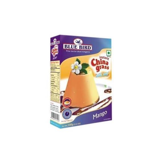 Blue Bird Instant China Grass Milk Jelly Mango 100GM (Pack Of 3)