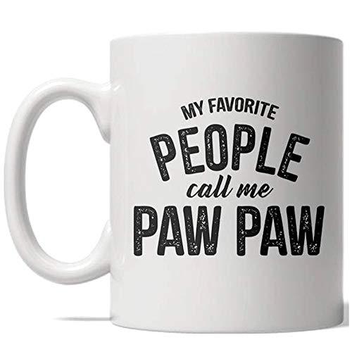 My Favorite People Call Me Paw Paw Mug Grandparent Coffee Cup - 11oz]()