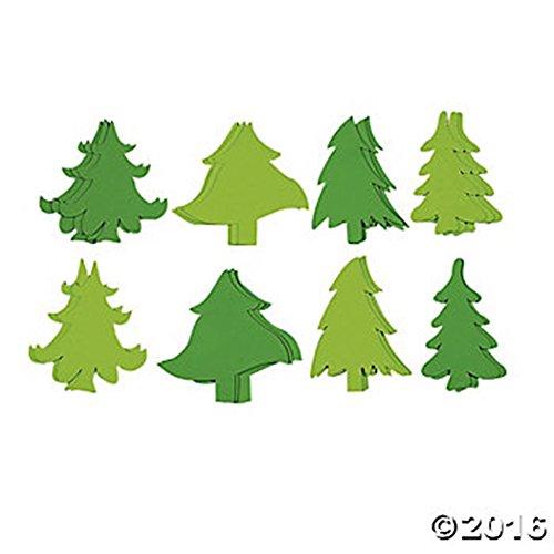 Set of 24 JUMBO Green Fabulous Foam Christmas Tree Shapes ~ 8