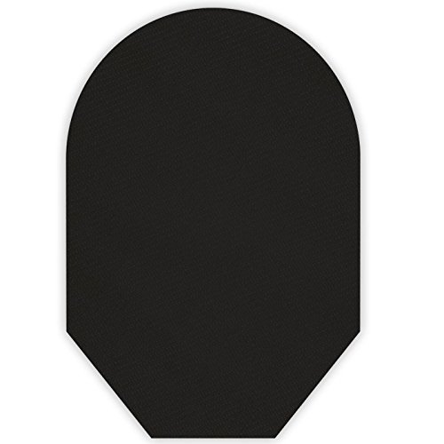 (Solid Color Ostomy Pouch Cover Closed End (Black) )