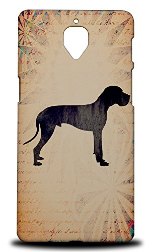 Foxercases Design Great Dane Dog Vintage Watercolor Art Hard Back Case Cover for OnePlus 3 Dane Vintage Colors