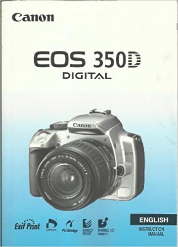 Canon EOS 350D Digital Camera Instruction Manual - Original
