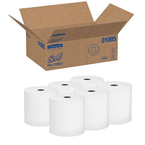 Scott Paper Towels: Scott High Capacity Hard Roll Paper Towels (01005), White
