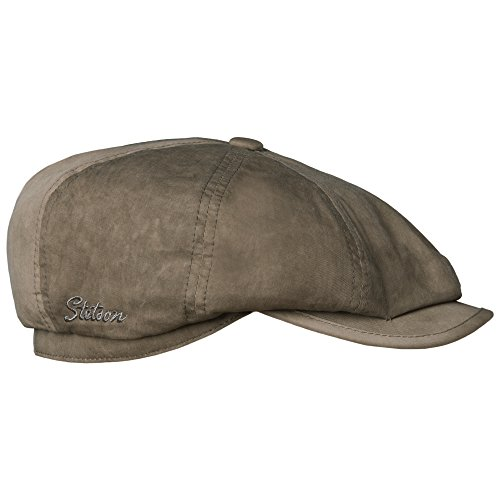 Stetson Men's Hatteras Vintage Cotton Flap Cap,Brown,L