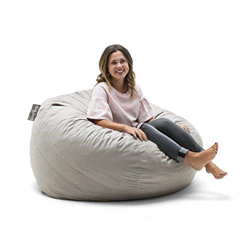 Big Joe 0010659 Foam Filled Bean Bag Chair, Large, Oat Lenox ()