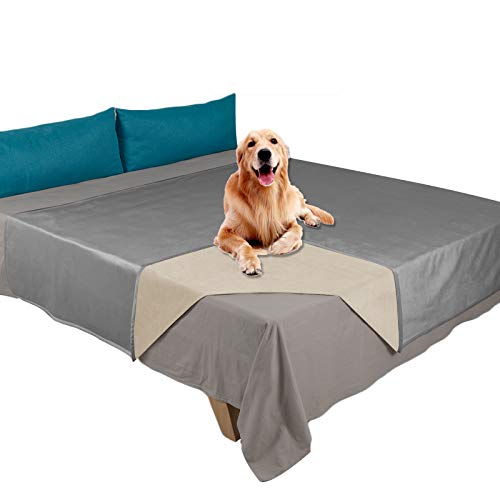 Ameritex Pet Bed Blanket Reversible 100% Waterproof Velvet Super Soft for Sofa and Bed
