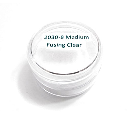 Thompson Enamel - Transparent Colors - 1/2 oz Jar, Lead Free Vitreous Enamel Powder (Medium Fusing Clear -