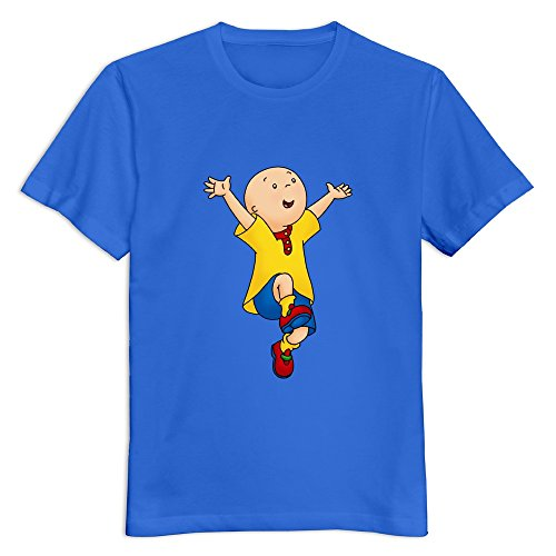 YWT Caillou Adult T Shirt O Neck Style RoyalBlue