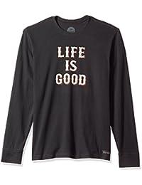 Men's Crusher Long Sleeve Stac Ngtblk T-Shirt,