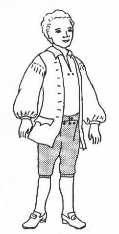 1700' (Colonial Costumes Patterns Boys)