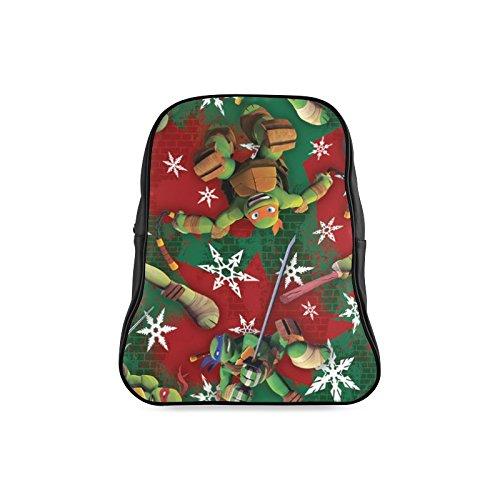 [Navarro Classic Teenage Mutant Ninja Turtles TMNT Children School High-grade PU Leather Backpack Bag Shoulder] (Tmnt April O Neil Costumes)